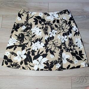 Tan and Black Floral Skort
